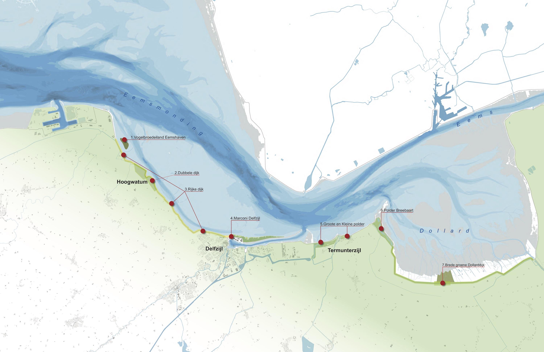 projecten Vitale Kust op kaart